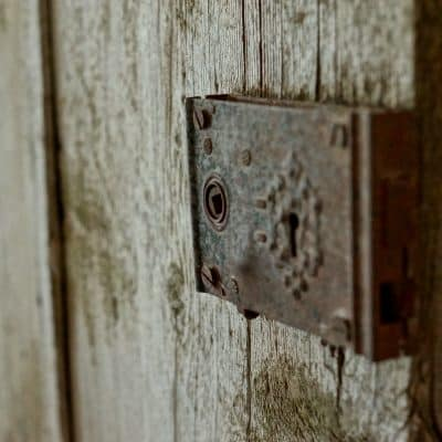 Rusty door latch