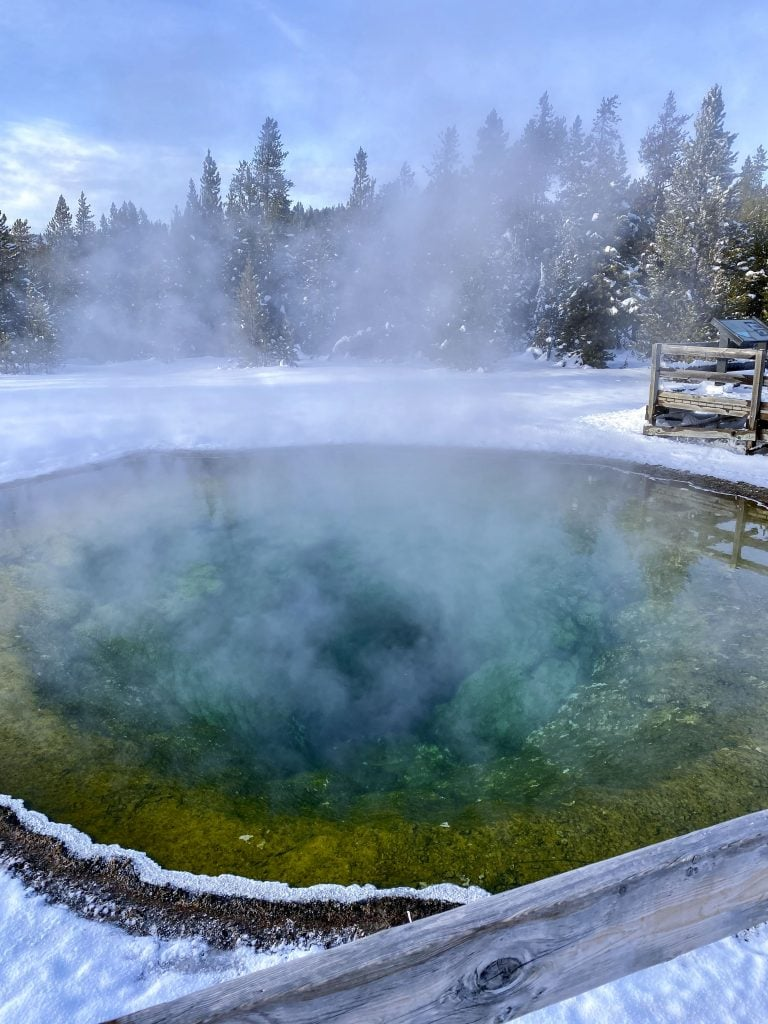 Winter in Yellowstone: Morning Glory Pool
