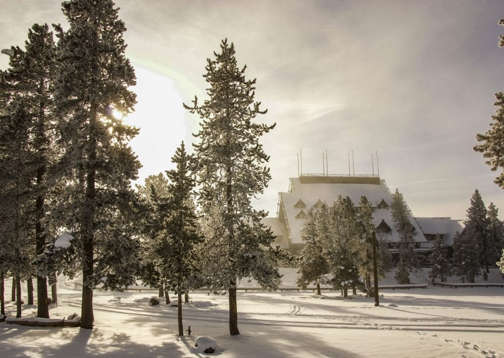 Winter in Yellowstone: Old Faithful Lodge