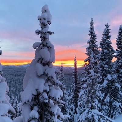 Winter in Yellowstone: sunrise