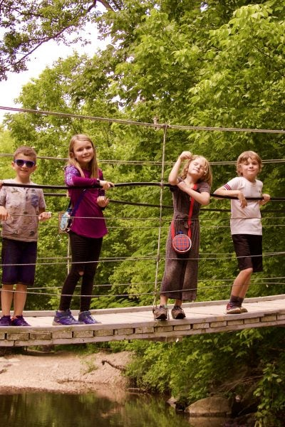 Tanyard Creek swinging bridge