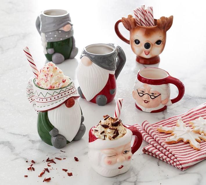 Pottery Barn Christmas Character Mugs